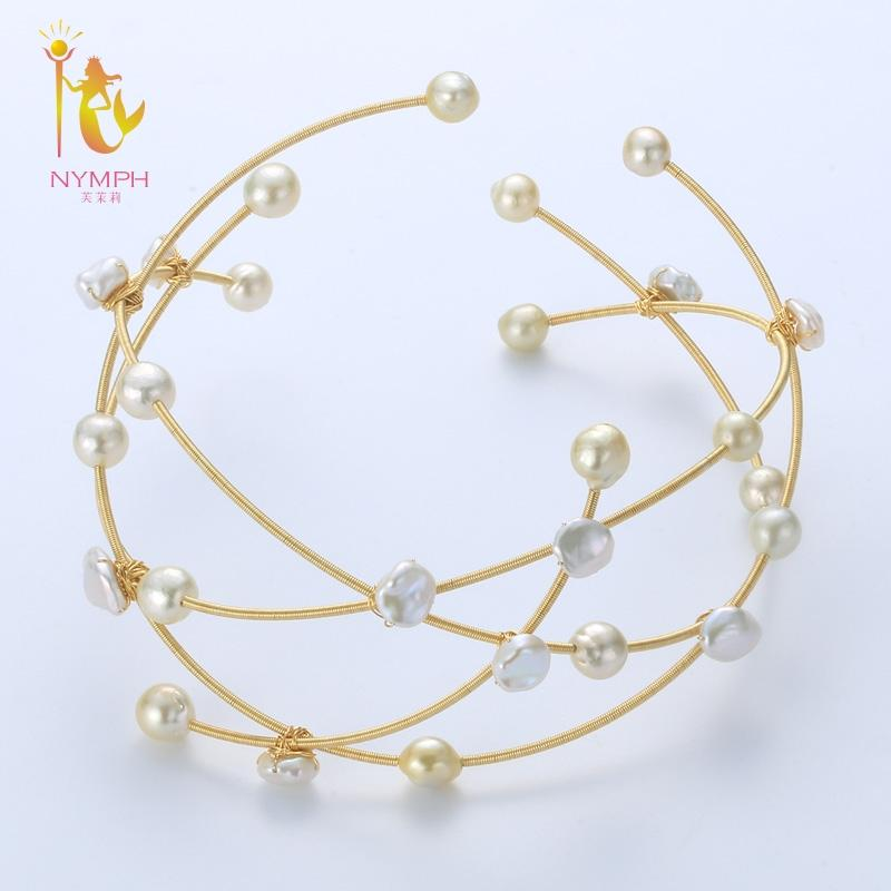 [NYMPH] Baroque Pearl Necklace Fine Jewelry Real Pearl Big Pearl Neckalce Women Party Wedding Trendy Anniversary Gift X335