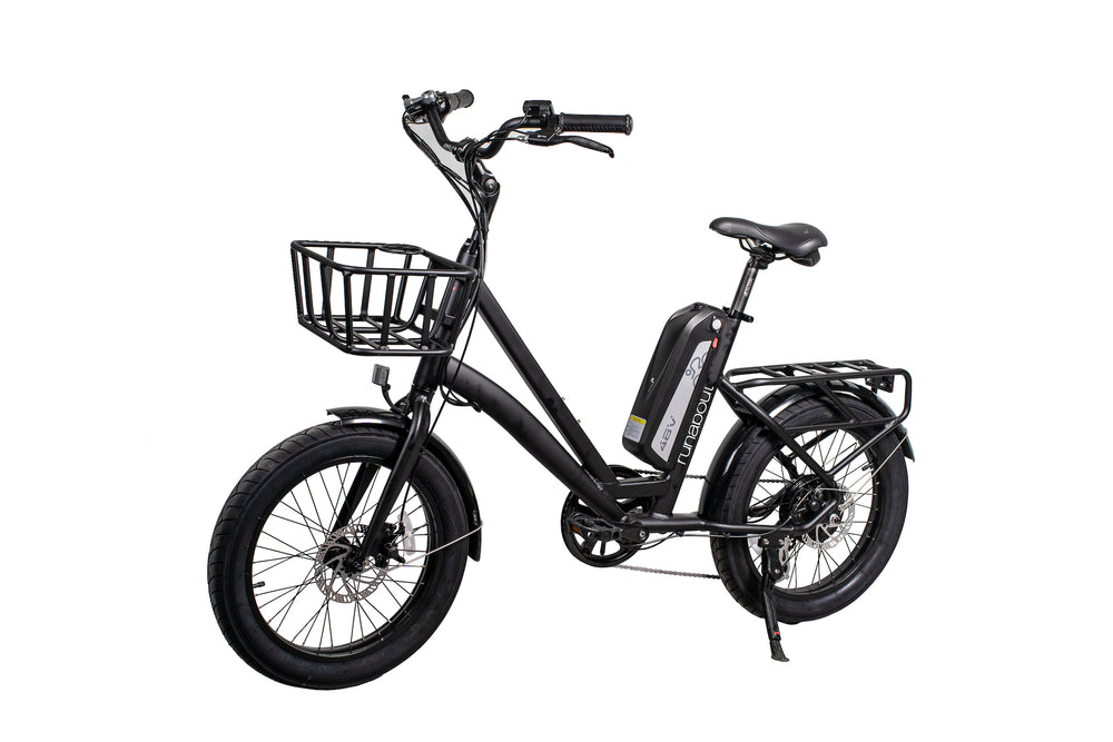 GlareWheel EB-RU Electric Bike Fat Tire 500W 5 Level Throttle With Basket