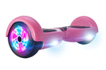 GlareWheel Pink Hoverboard Light Up Wheels Build In Bluetooth Speaker- UL2272 Certified
