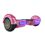 GlareWheel Adult Commute Electric Scooter Foldable Off Road S11 Spiderman Hoverboard With Built-In Bluetooth Speaker- UL2272 Certified-GlareWheel