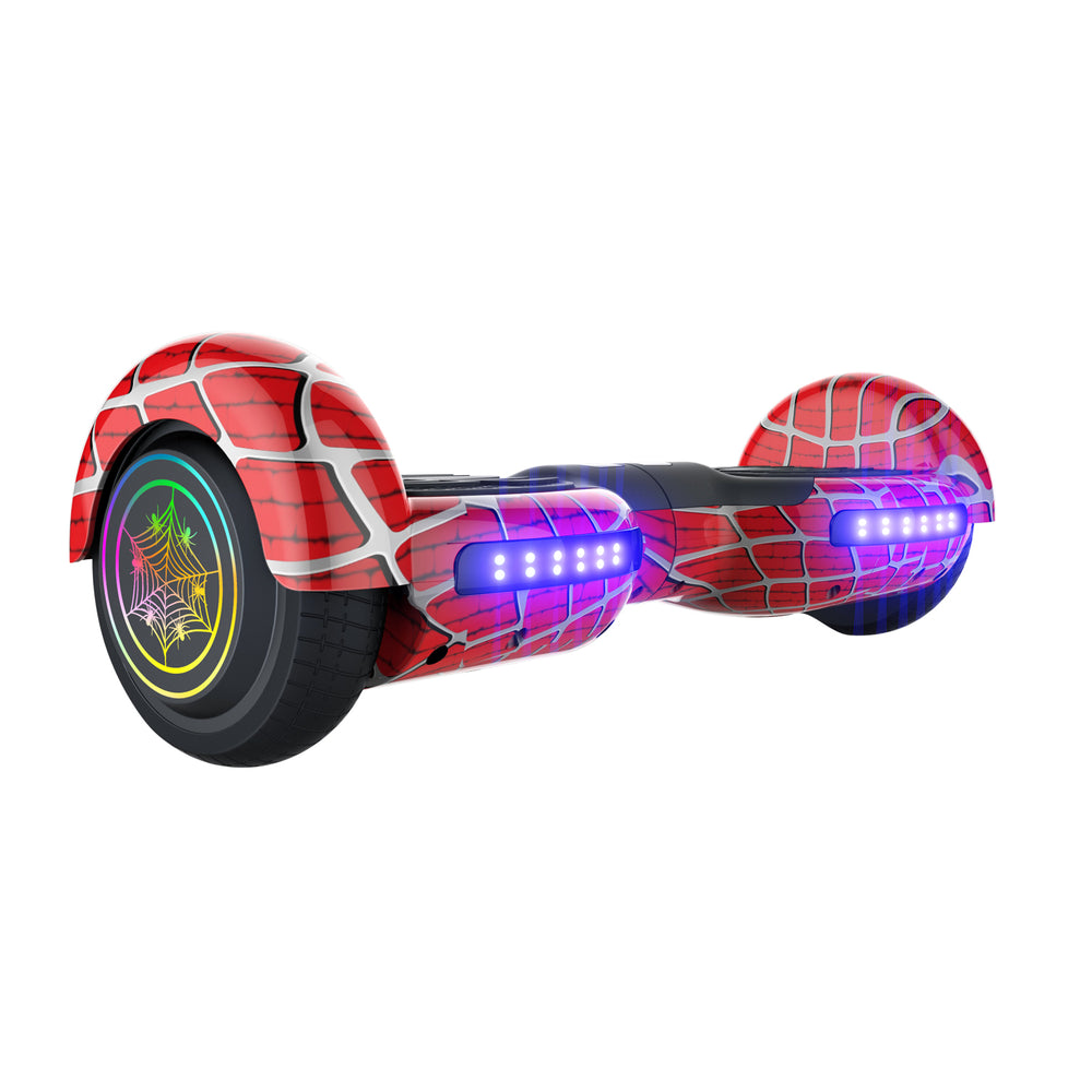 GlareWheel Spider Hoverboard With Built-In Bluetooth Speaker- UL2272 Certified
