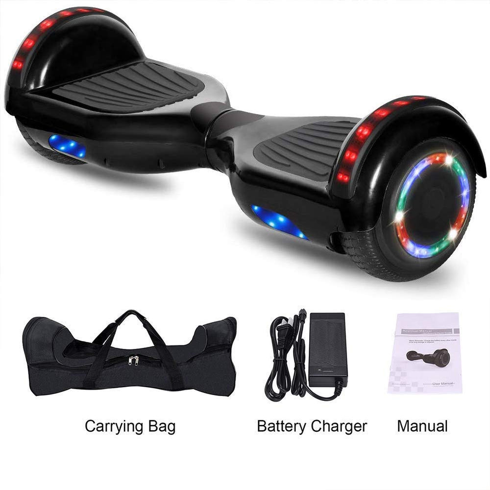 GlareWheel Self Balancing Scooter Hoverboard Bluetooth Light Up Wheels Free Bag