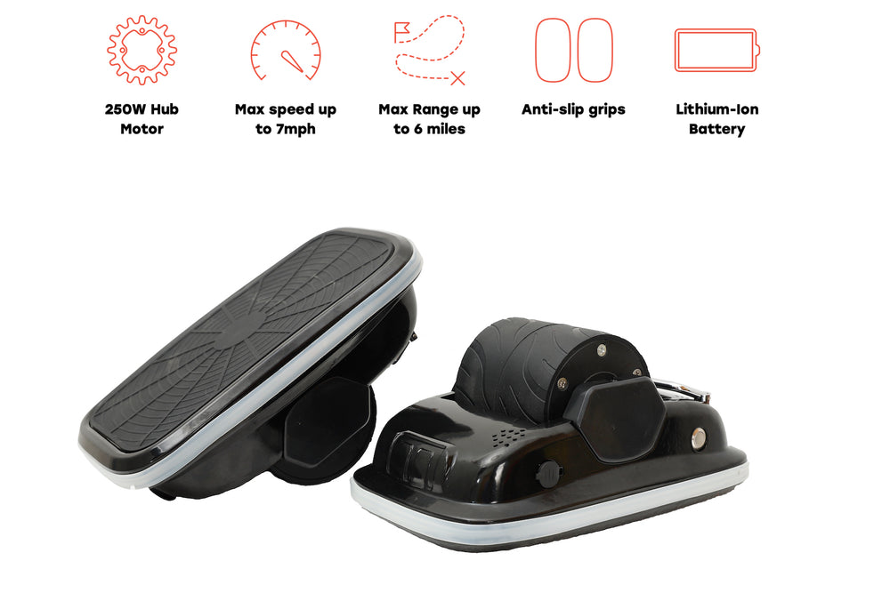 GlareWheel Electric Hover Shoes with LED Lights Newest Self Balancing Scooter
