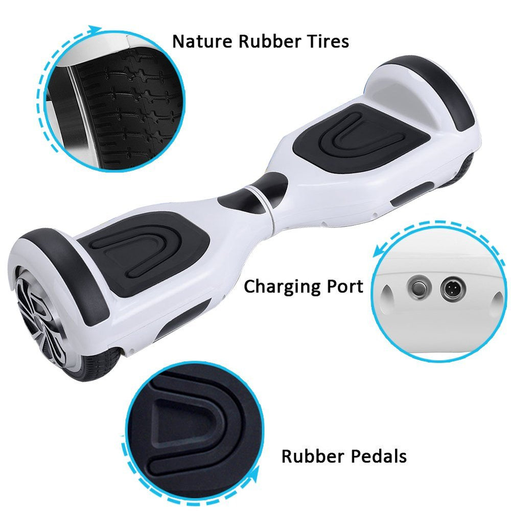 GlareWheel Refurbished R2 Hoverboard With Built-In Bluetooth Speaker- UL2272 Certified-GlareWheel
