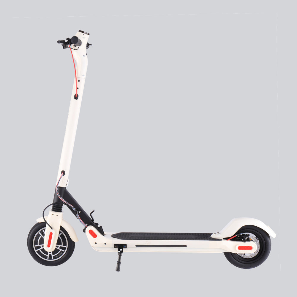 GlareWheel ES-S10PRO Electric Scooter 8.5 Inch Foldable White