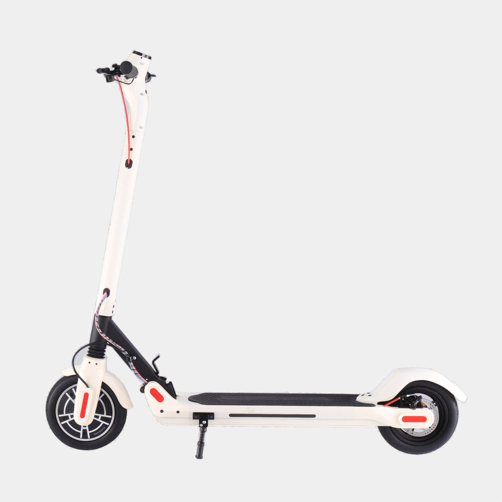 GlareWheel Pro S10  Electric Scooter 8.5 Inch Foldable White
