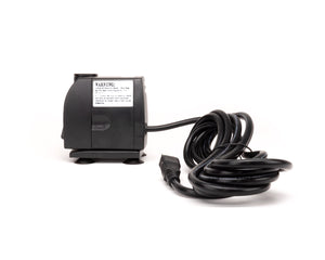 Mid-sized black plastic electronic pump with power cord.