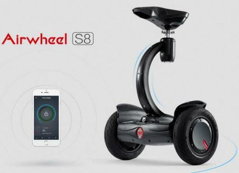 Airwheel S8 mini.....compact and fun!!(Black Carbon Fiber Finish)