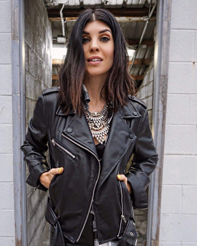 The Erin Faux Leather Jacket