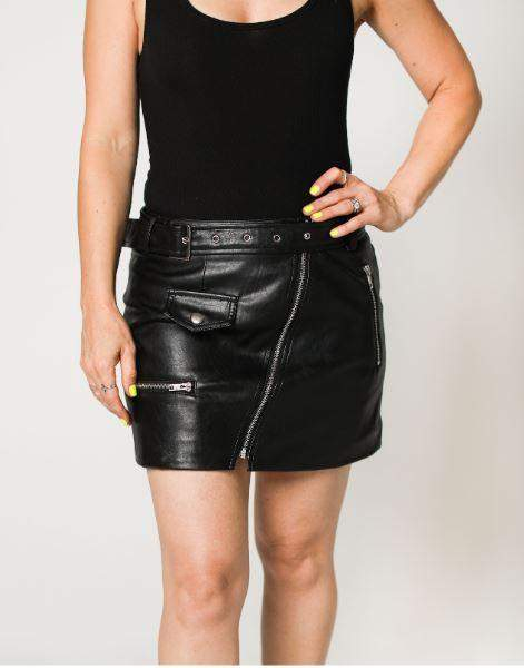The Annie Faux Leather Mini