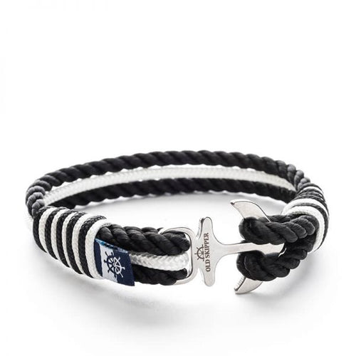Ebony - Nautical Rope Anchor Bracelet