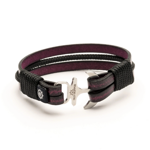 Delta - Leather Rope Anchor Bracelet