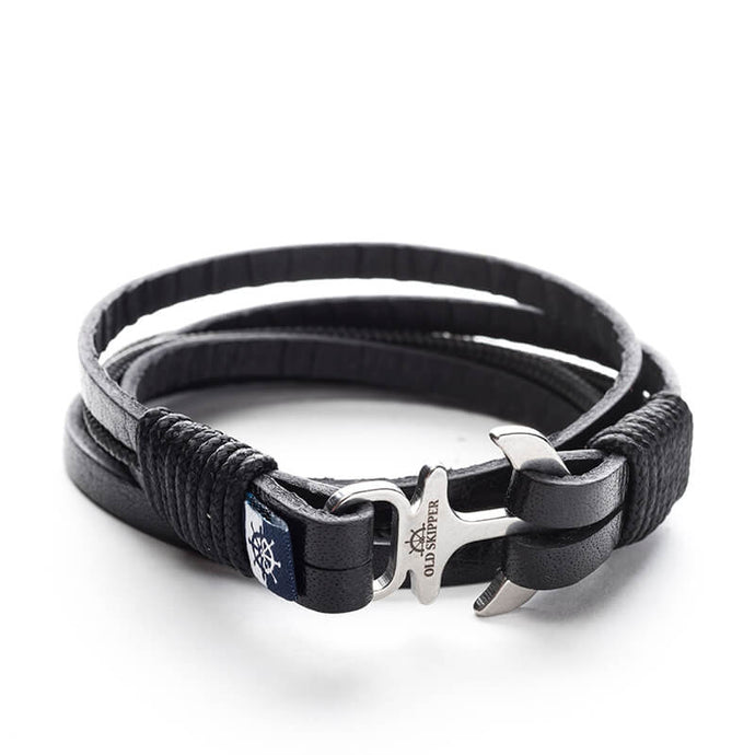 Diesel Nautical Italian Leather Anchor Boat Yacht Bracelet