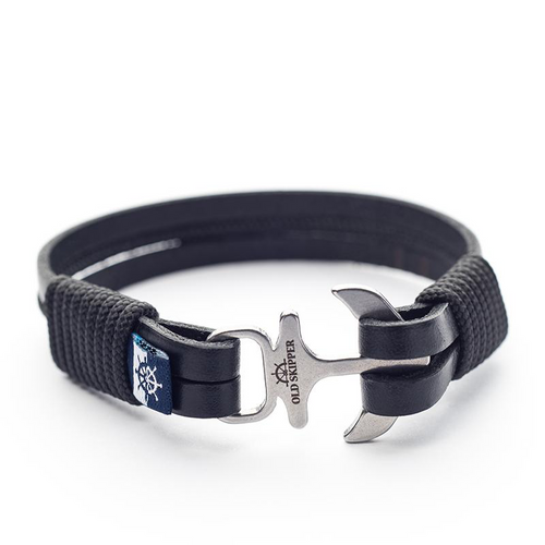 Kenzo - Black Leather Black Rope Bracelet