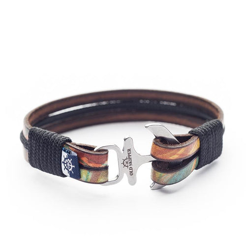 Bjorn Nautical Italian Leather Anchor Unisex Bracelets