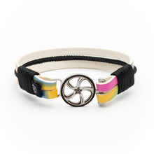 Senna - Rainbow Leather Black Rope Bracelet