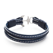 Baal Nautical Italian Leather Anchor Men's Bracelets