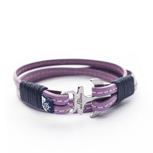 Liban Nautical Italian Leather Anchor Women Bracelets