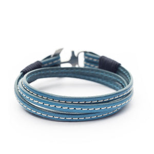 Thessalonike Nautical Italian Leather Anchor Women Bracelets
