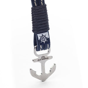 Lorelei Nautical Italian Leather Anchor Boat Yacht Bracelet