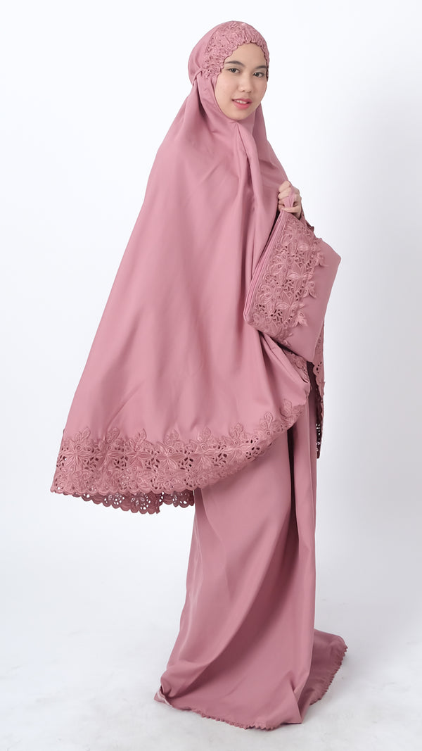 Mukena Khadija Attaya Dusty Pink