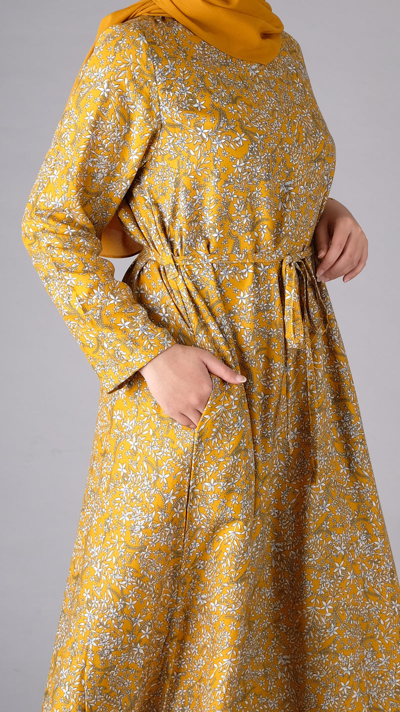 Ghaida Homey Dress Mustard