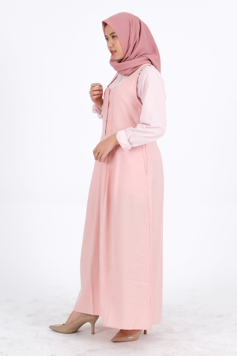 Syifa Overall Light Pink