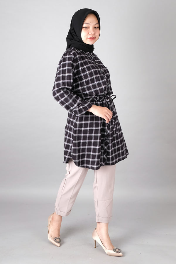 Raven Flannel Tunic Black