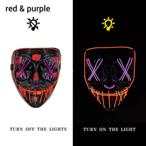 Mazkeen Halloween Mask Purge LED Mazkeen Sale red and purple