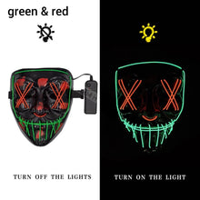 Load image into Gallery viewer, Mazkeen Halloween Mask Purge LED Mazkeen Sale green and red