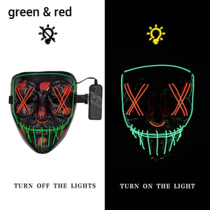 Mazkeen Halloween Mask Purge LED Mazkeen Sale green and red