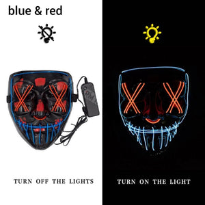 Mazkeen Halloween Mask Purge LED Mazkeen Sale blue and red