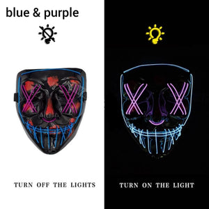 Mazkeen Halloween Mask Purge LED Mazkeen Sale blue and purple