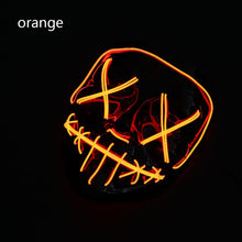 Load image into Gallery viewer, Mazkeen Halloween Mask Purge Mask LED Mazkeen Sale orange