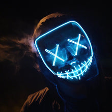 Load image into Gallery viewer, Mazkeen Halloween Mask Purge LED Mazkeen Sale blue