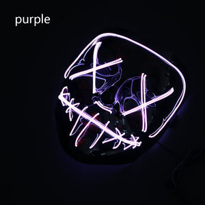Mazkeen Halloween Mask Purge mask LED Mazkeen Sale purple