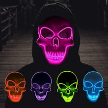 Load image into Gallery viewer, Skeleton Halloween Mask LED