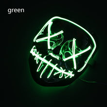 Load image into Gallery viewer, Mazkeen Halloween Mask Purge LED Mazkeen Sale green