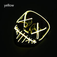 Load image into Gallery viewer, Mazkeen Halloween Mask Purge LED mask Mazkeen Sale yellow
