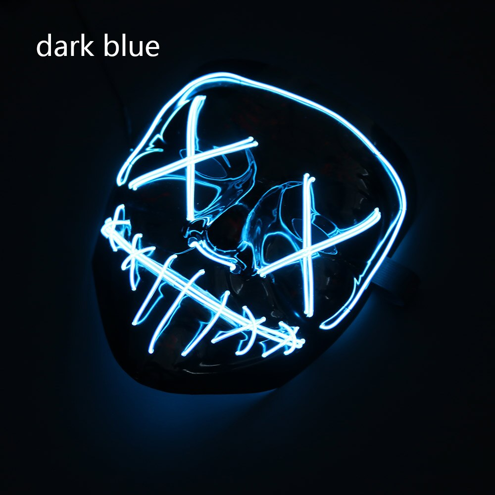 Mazkeen Halloween Mask Purge LED Mazkeen Sale dark blue