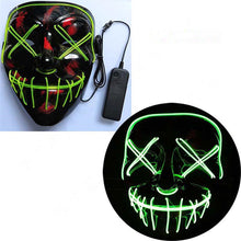 Load image into Gallery viewer, Mazkeen Halloween Mask Purge LED Mazkeen Sale green night exclusive control