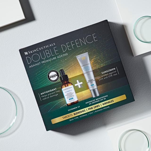 SkinCeuticals Silymarin CF Double Defence Kit for Oily Skin (Free SPF save €52)