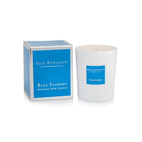 MAX BENJAMIN BLUE FLOWERS LUXURY NATURAL CANDLE