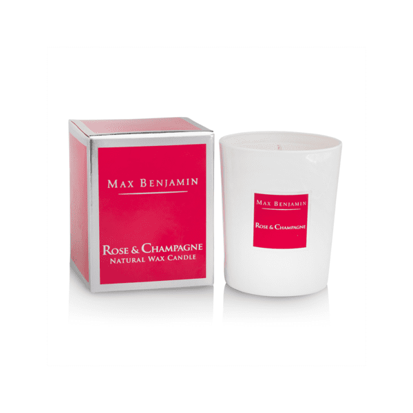 MAX BENJAMIN ROSE AND CHAMPAGNE LUXURY NATURAL CANDLE