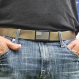 Branded American Flag - Ninja Black Grip6 Belt