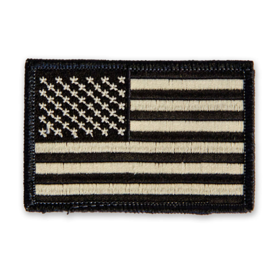 Black & Tan American Flag Velcro Patch