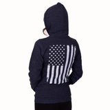 Women's Vertical Flag Pullover Hoodie - CLEARANCE