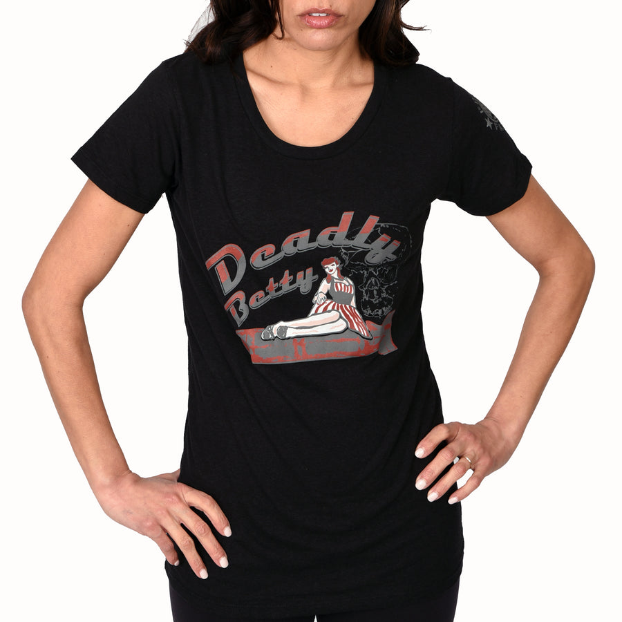 Women's Deadly Betty Retro Nose Art - CLEARANCE