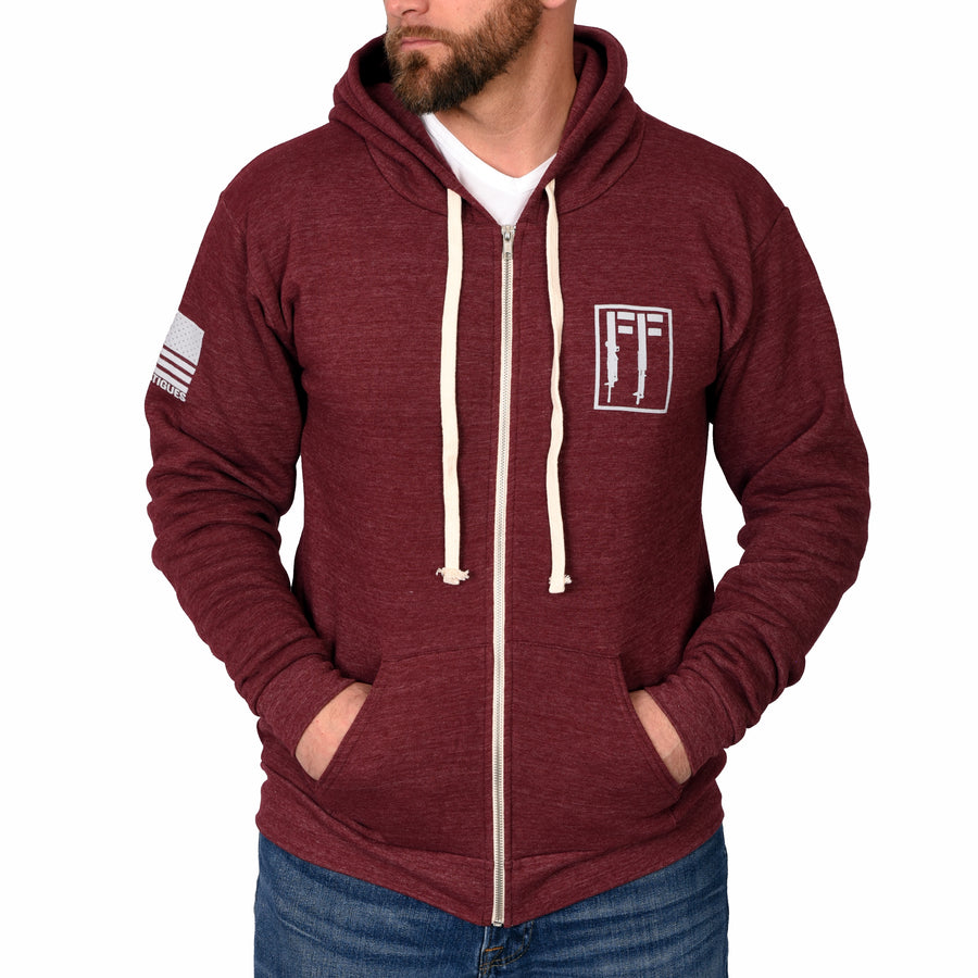 Freedom Guns Full-Zip Tri-Blend Hoodie