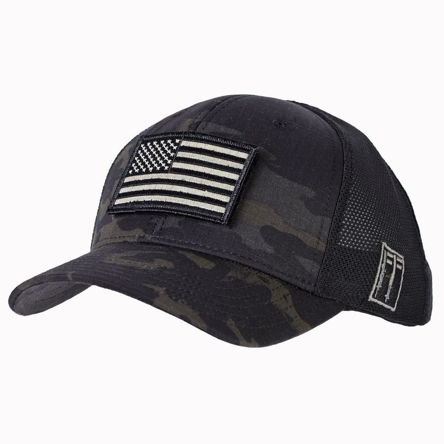 Black MultiCam Mesh-Back Ball Cap